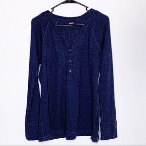 Patagonia dark blue thermal Henley long sleeve shirt L